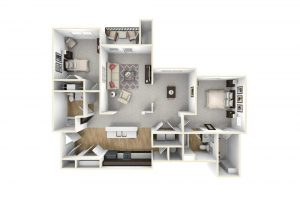 2 bedroom floor plan